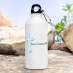 Personalized Blue Message of Faith Water Bottle