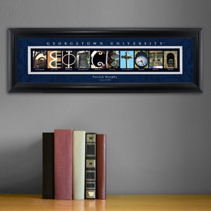Collegiate Framed Architecture Print in Wood Frame - Georgetown University