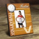 Personalized Bump, Set, Spike Picture Frame