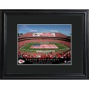 Personalized NFL Stadium Print with Wood Frame - Kansas City Chiefs