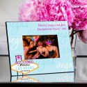 Personalized Gals Las Vegas Picture Frame - Blue Vegas Sign Frame