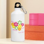 Personalized Flowers and Faith Water Bottle