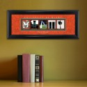 Collegiate Framed Architecture Print in Wood Frame - University of Miami