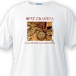 Personalized Grandpa T Shirt - Fishing Memories