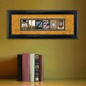 Collegiate Framed Architecture Print in Wood Frame - University of Missouri