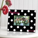 Personalized Polka Dots Picture Frame - Onyx Polka Dot Frame