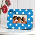 Personalized Polka Dots Picture Frame - Sapphire Polka Dot Frame