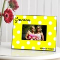 Personalized Polka Dots Picture Frame - Bananas Polka Dot Frame