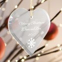 Personalized Heart Christmas Ornament