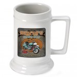 Personalized 16 oz. German Beer Stein - Biker