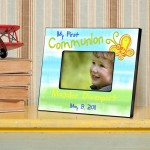 Personalized First Communion Picture Frame - Sunshine and Butterflies
