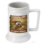 Personalized 16 oz. German Beer Stein - Cowgirl Saloon