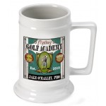 Personalized 16 oz. German Beer Stein - Golf Academy