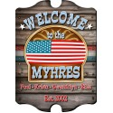 Personalized Vintage Welcome Sign