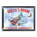 """Personalized """"Fly-boy"""" Room Sign"""