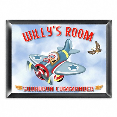 Personalized Fly-boy Room Sign