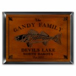Cabin Series Traditional Signs - Walleye Cabin Sign