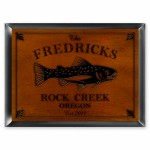 Cabin Series Traditional Signs - Trout Cabin Sign