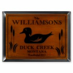 Cabin Series Traditional Signs - Wood Duck Cabin Sign