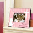 Personalized First Communion Picture Frame - Hear My Prayer - Pink