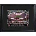 Personalized College Stadium Print with Wood Frame - Florida State - Doaks Campbell Stadium