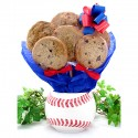 Baseball Cookie Gift Planter - 6 or 12 Gourmet Cookies