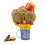 Get Well Cookie Bouquet Mug - 6 or 12 Gourmet Cookies